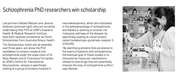 UOW research news Dec '12